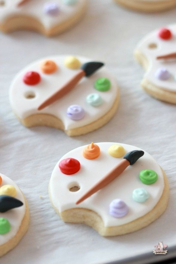 How to Cover Cookies with Fondant & Art Palette Cookie Tutorial | Sweetopia