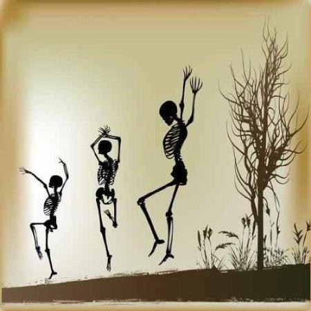 Dancing Skeleton Wall Decals