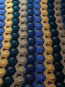 Tales from Trish: FINISHED!! Vintage Fan Ripple #crochet.