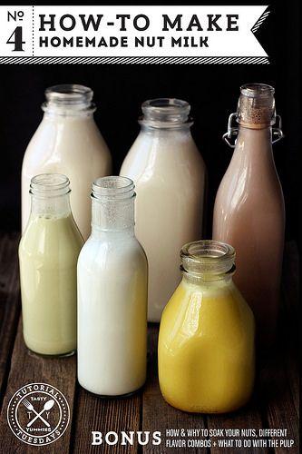 How-to Make Homemade Nut Milk by @➳ Beth // Tasty Yummies ➳ http://tasty-yummies.com/ #paleo