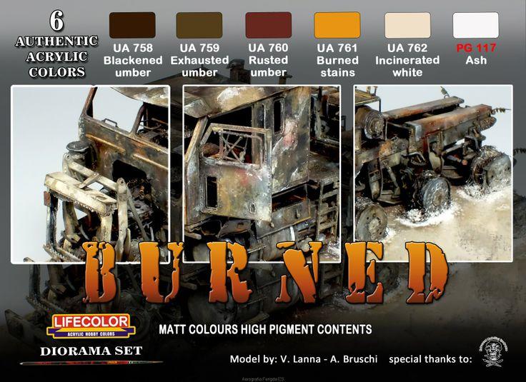 Set colores camuflaje LifeColor CS29 Burned