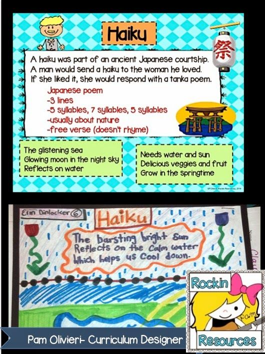 Free Idea:  The Best Way to Teach Poetry Blog Post- Learn ways to write poetry and posting it on a bulletin board for the year.  Designed by Rockin Resources