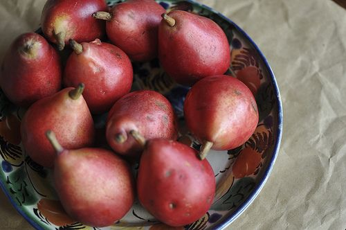 red pears by Marisa | Food in Jars, via Flickr