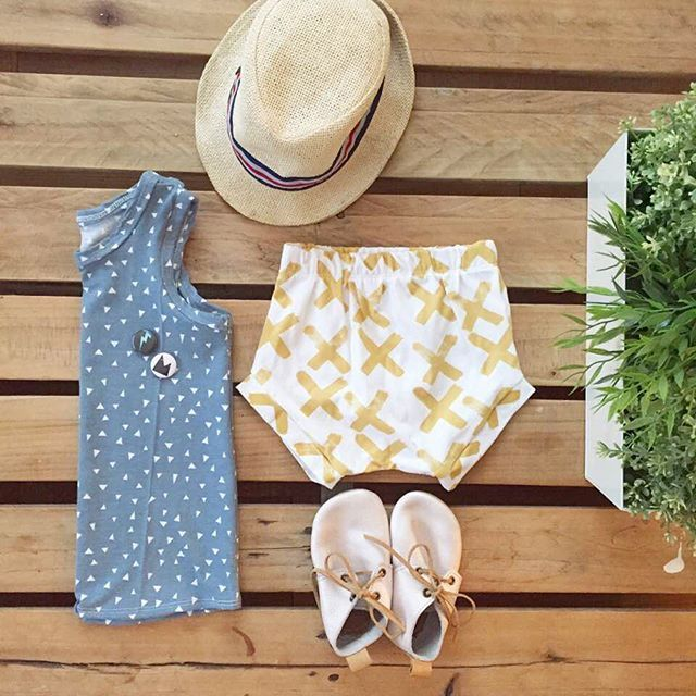 Boys Summer Outfit, Mount Zi baby and kids clothing. Baby boy bloomers, baby boy tank tops, hipster baby.