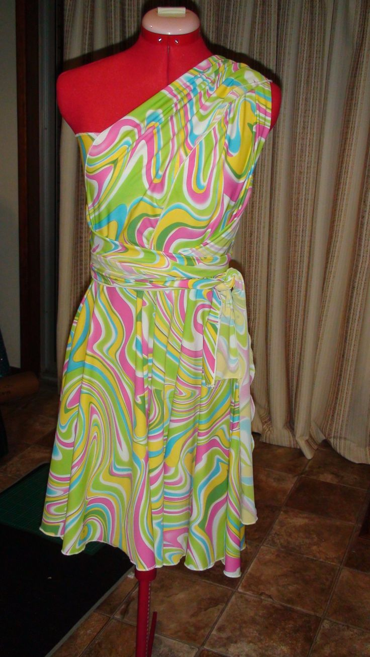 Infinity Dress with Tube Top.  Straps can be tied many different ways. {Made by Hour Glass Sewing}