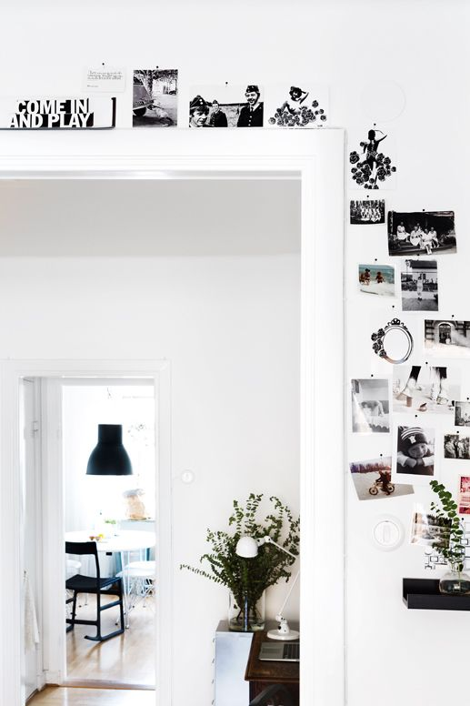 Awesome photo wall collage around the doorway... How cool is that! Are you…