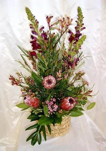 Contemporary Australian Native Flowers - they make spectacular floral displays and compliment European flowers too.