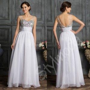 Svatební šaty dlouhé bílé CL7506