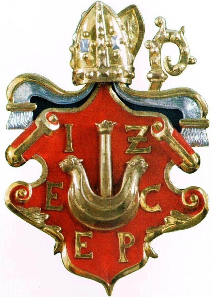 Cartouche with coat of arms of Jakub Zadzik when bishop of Chełmno by Ditolf Siwers from Lubawa (Löbau in Westpreußen), 1627, Bazylika św. Tomasza Apostoła w Nowym Mieście Lubawskim