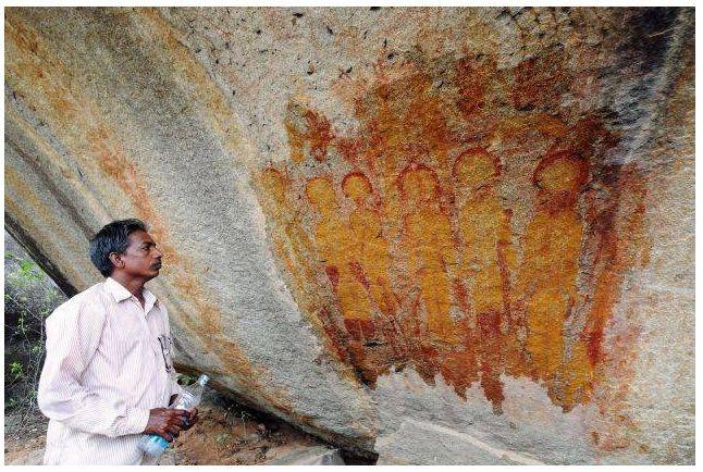 Загадки. Необъяснимые явления.: Пришельцы и НЛО. Наскальные рисунки в индийском шт...