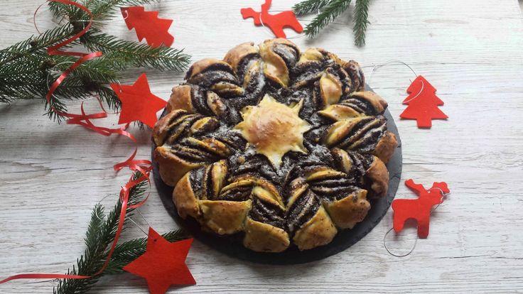 Drożdżowe ciasto makowe w formie gwiazdy idealnie wpasuje się w świąteczne klimaty