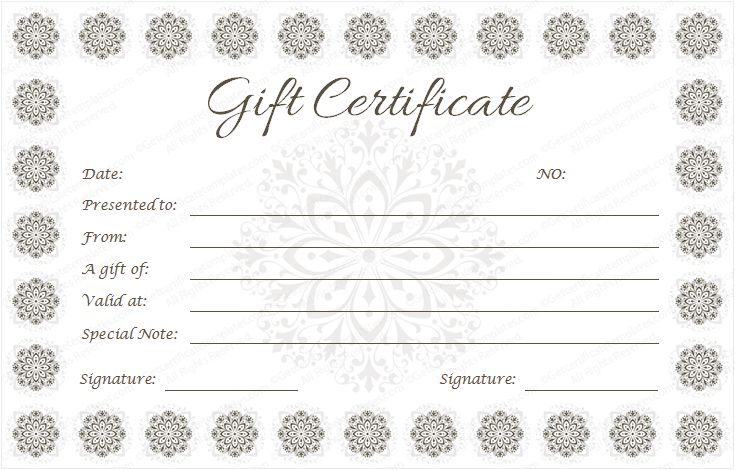 Celebration gift certificate template Beautiful Printable Gift - make your own voucher