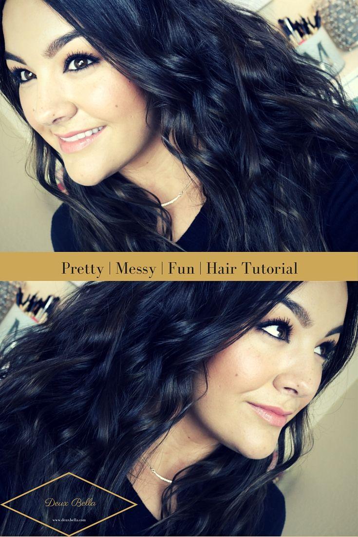 Hair tutorial, Pretty, Messy, Easy, Fun, Long Hair, Short Hair, Curls, Curling Wand, Flat Iron, Nume, Style