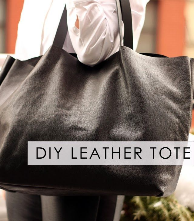 Make an easy, Celine-inspired tote. Could definitely use fake leather.