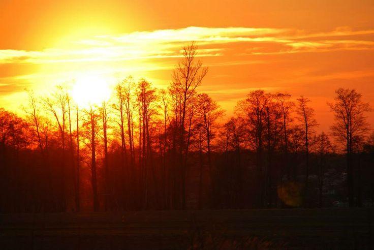 Sunset in Kiermusy (Poland) Magic!
