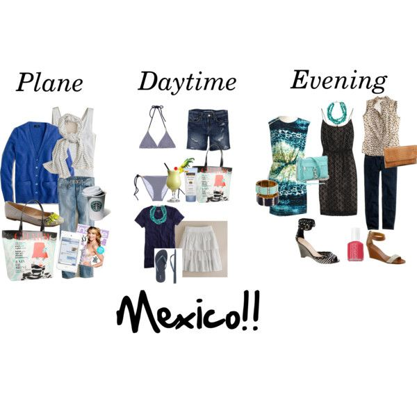 """""""Packing for Mexico Trip"""" by kittywitty on Polyvore #tbex"""