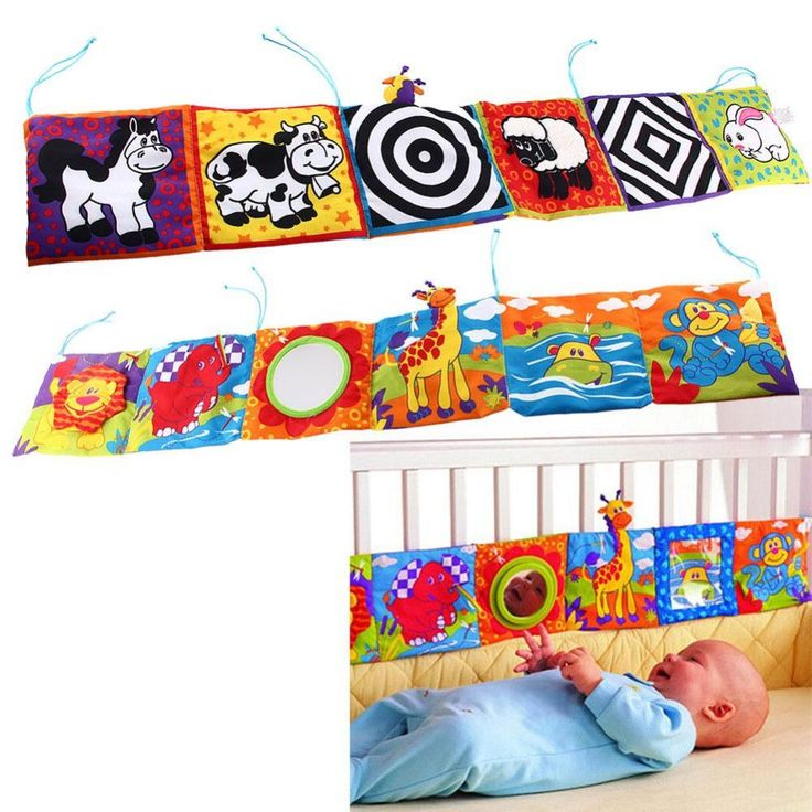 Kids Mirror Animal Bed Cognize Cloth Book Infant Baby Toy Cute Unfolding Activity Books Animals Kids Toys