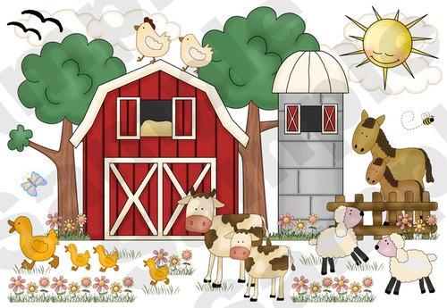 FARM ANIMAL NURSERY Decor Decal Wall Art Barnyard Mural