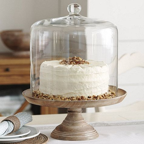 This Cake Dome is designed to serve up classic Southern style, and tall enough to actually cover a 3-layer cake without smashing the top!
