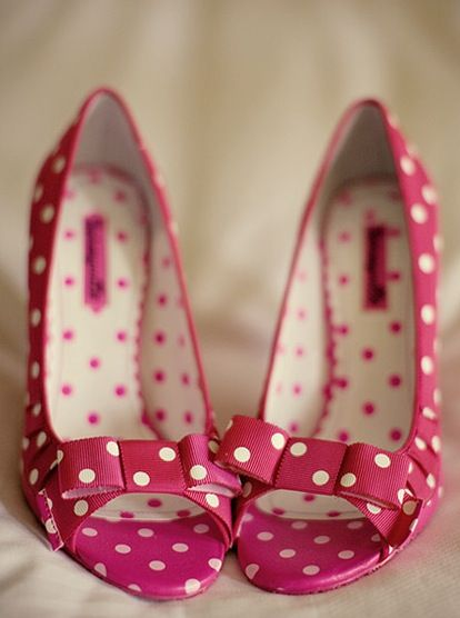 Such fun polka dot shoes!