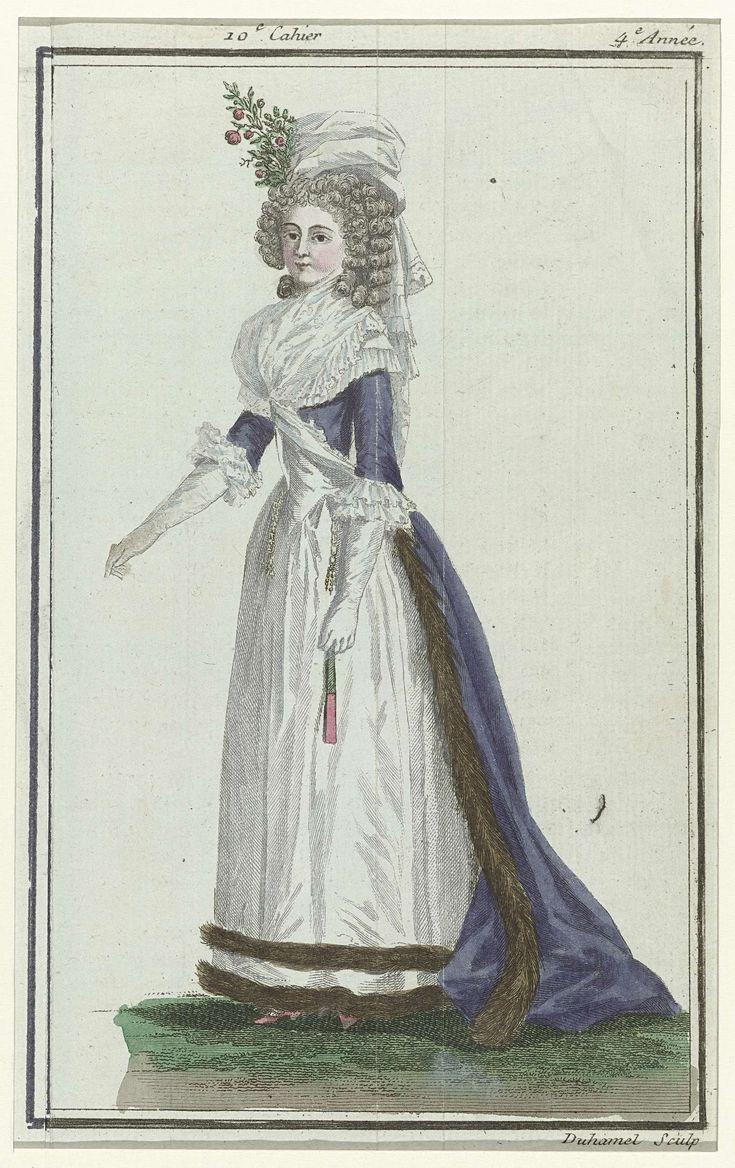 Magasin des Modes Nouvelles Françaises et Anglaises, 1 mars 1789, Pl.  3, A.B. Duhamel, Buisson, 1789