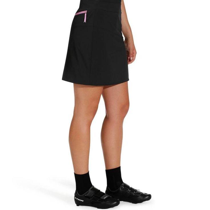VELO Equipement du cycliste Vêtements - Jupe vélo femme 300 noir B'TWIN - Les bas