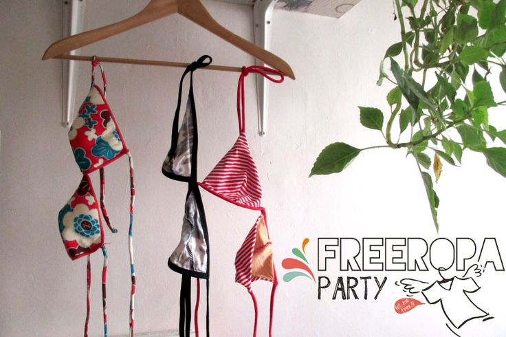 Free Ropa Party para dejar volar la ropa que ya no usas. Unos bikinis...