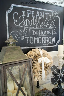 {Ella Claire}: Tutorials-How to write on a Chalkboard
