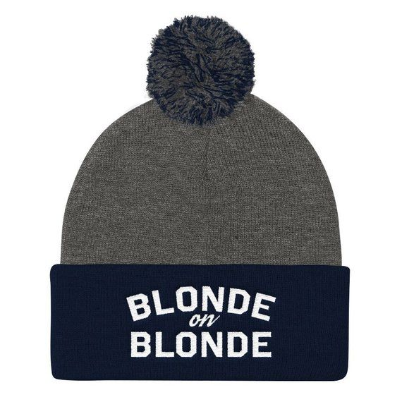 ee2fcebac51 BLONDE on Blonde Pom Pom Knit Cap