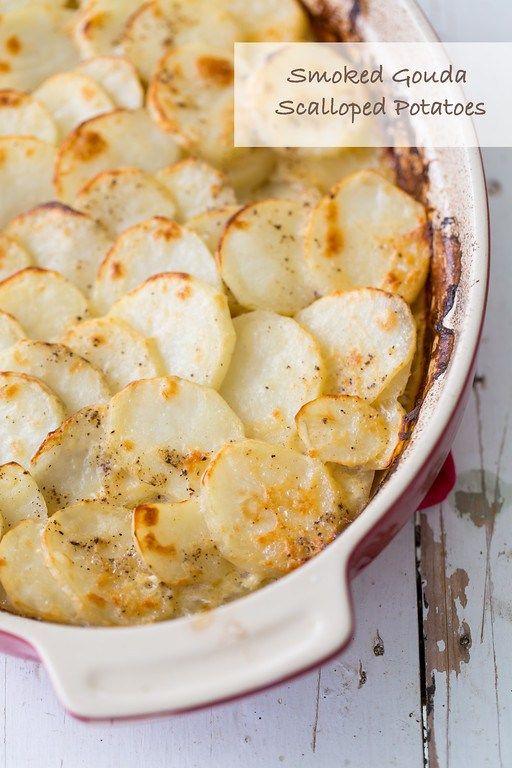 Smoked Gouda Scalloped Potatoes - rich, cheesy goodness.