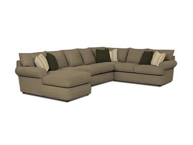 Klaussner Living Room Samantha Sectional G56960 Kittles