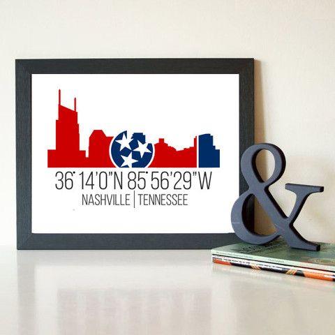 Framed Canvas | Nashville Skyline