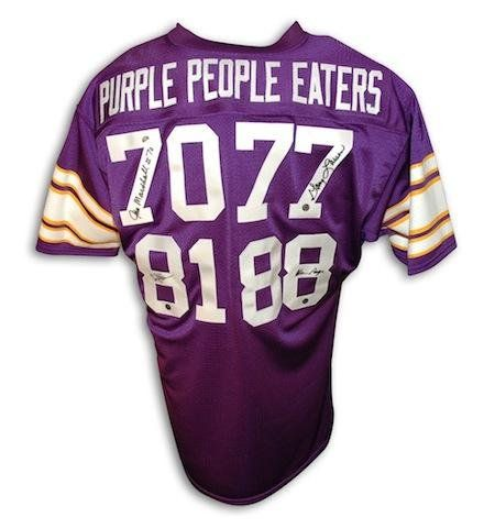 f8b70ea1136 Purple People Eaters Minnesota Vikings Throwback Jersey Autographed -  Autographed NFL Jerseys https
