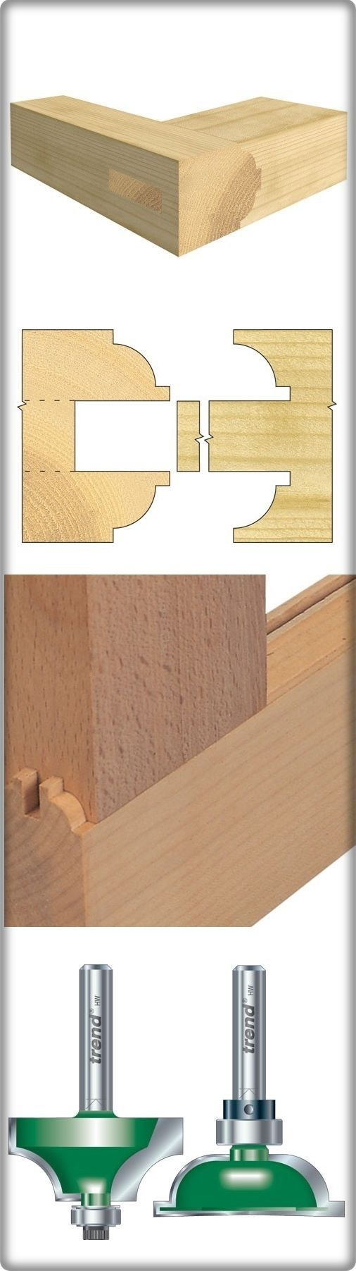 For door and window construction, decorative panelling and many other joinery applications... #Shoulder scribe/profile #set (http://www.woodfordtooling.com/craftpro-router-cutters/ovolo-jointers-scribers/ovolo-bar-set/shoulder-scribe-profile-set.html):