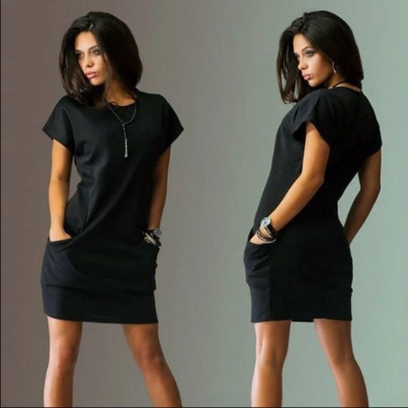 FLASH SALE perfect little black dress❤️ The perfect little black dress❤️it's super cute and very light weight so it's perfect for those hot days. Has cute little side pockets to hold that very necessary Chapstick, lipstick or cell phone❤️made out of polyester material Dresses Mini