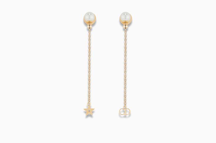 la petite tribale earrings in gold-tone metal - Dior