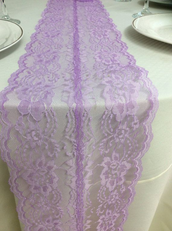 Nice Lace Table Runner 8ft Lavender Table Runner By LovelyLaceDesigns, $15.50