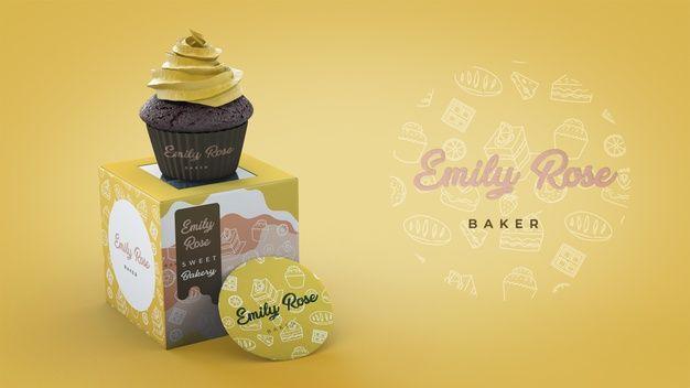 Download Cupcake Packaging And Branding Mockup For Free Cupcake Packaging Cake Branding Wedding Cake Illustrations