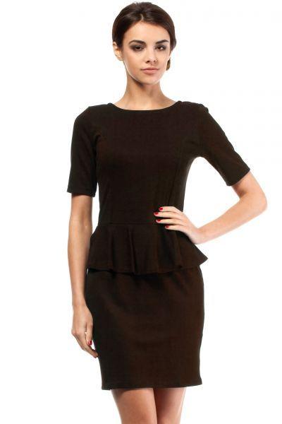 Dark brown dress with cut pencil