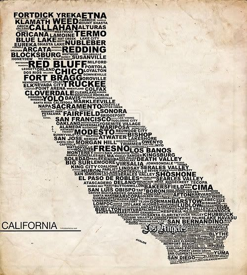 california- I miss it so much. And for all my Missouri friends: Fresno, the big one in the middle, is where I used to live and that's where it is.