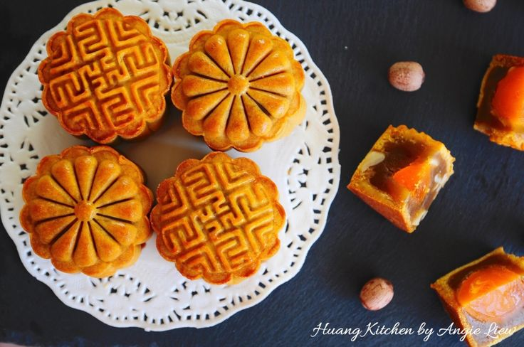 Mini Lotus Paste Mooncakes 迷你莲蓉月饼 | Huang Kitchen  Its easy to make mooncakes at home! These traditional baked mooncakes are filled with homemade lotus paste. Mini mooncake moulds are used in this recipe.