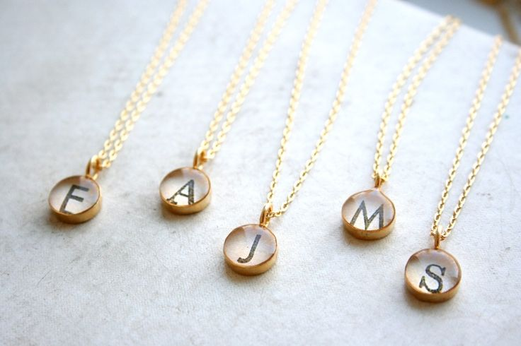 Monogrammed Bridesmaid Necklaces