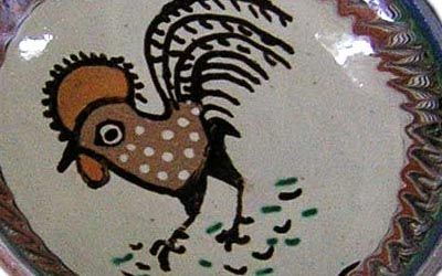 The Horezu Rooster motif.