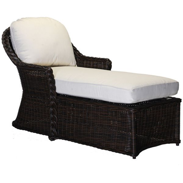 Wicker Chaise Furniture With White Seat Good Ideas