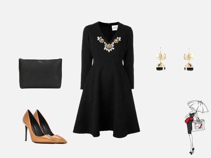 Маленькое черное платье  Повод надеть: вечеринка, концерт  Ни один женский гардероб не обходится без маленького черного платья. Оно подходит для большинства мероприятий, легко выдерживает любой дресс-код и сочетается со множеством одежды разных стилевых направлений. Для осенне-зимнего сезона можно подобрать модель с длинными рукавами. В сочетании с благородными материалами аксессуаров, платье подчеркнет женственность и элегантность.