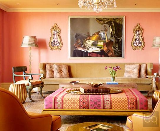 South Peach Color For Living Room | 2013 Living Room Wall Paint Ideas Part 50