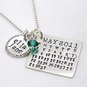 I love this necklace!!!  You give them your special day and they will make an individualized piece.  So cool!  Punkyjane.com.