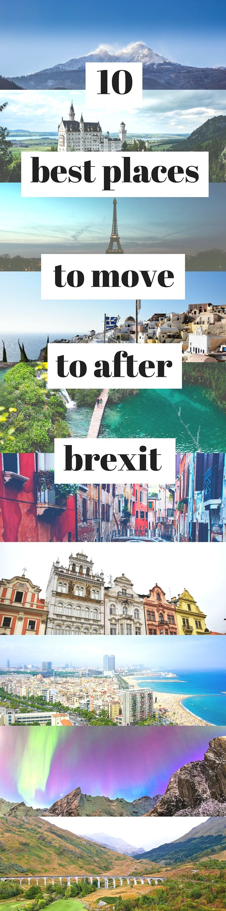 Upset with the Brexit vote result? I've put together a list of the ten best places to move to after Brexit, if the UK leaves the EU. If you love Europe, read on...