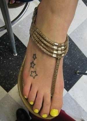 Star Tattoo on Beautiful Foot