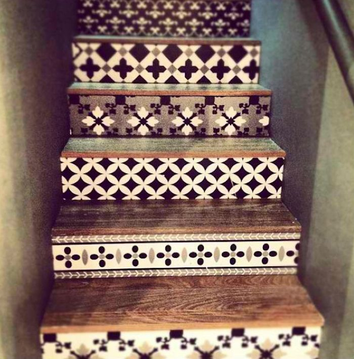 Spanish Style Tiled Stair Risers